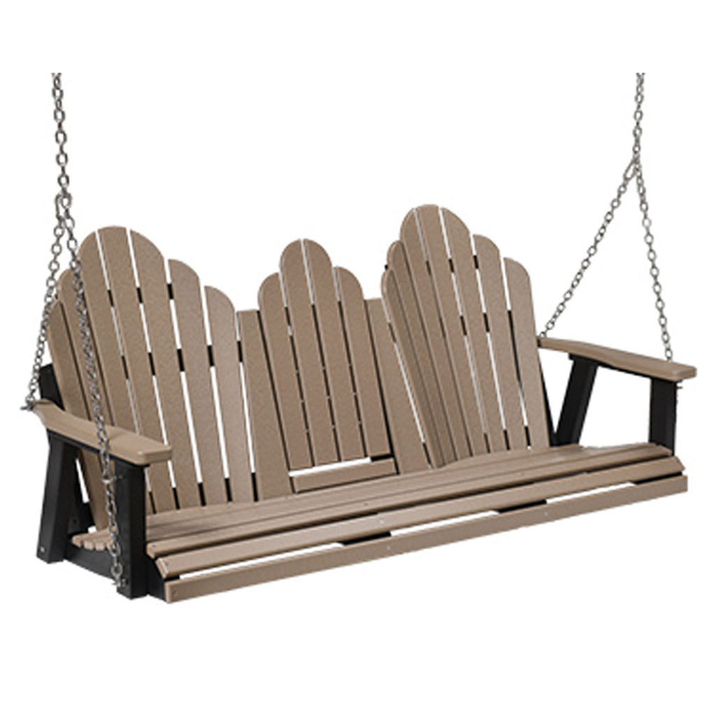Berlin Gardens Cozi-Back Three Seat Swing with Console and Stainless Steel Chains