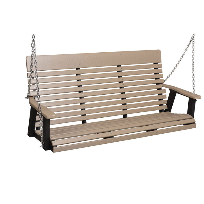 Berlin Gardens Casual Back Three Seat Swing with Stainless Steel Chains