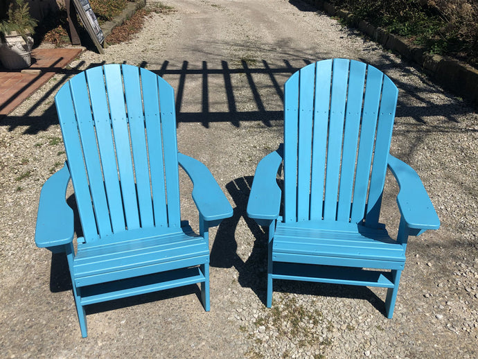 Set of (2) Treated Adirondack Chairs - Showroom Inventory