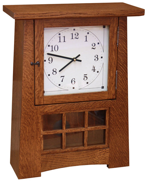 "18"" Arts and Crafts Pendulum Clock"
