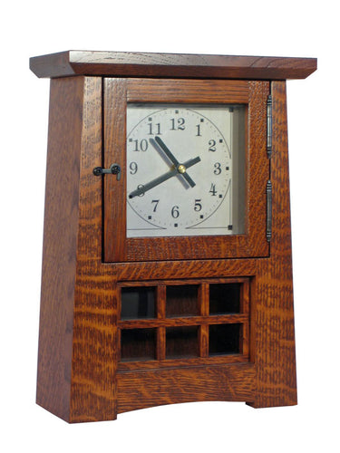 Arts and Crafts Pendulum Clock-Non Striking