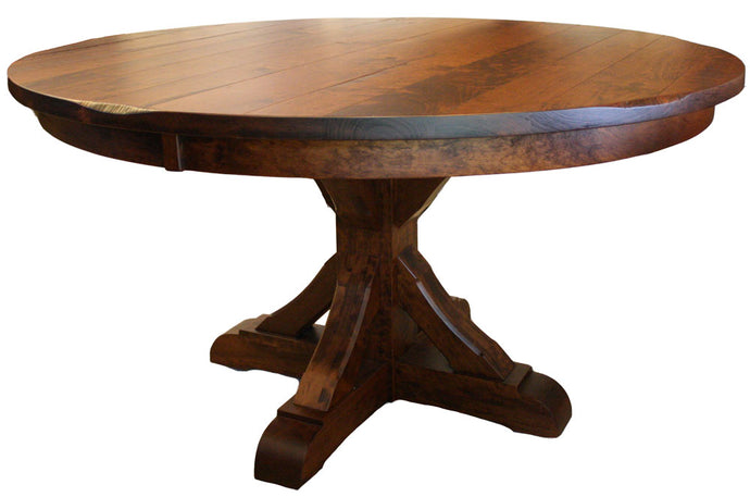 Barn Beam Single Pedestal Table