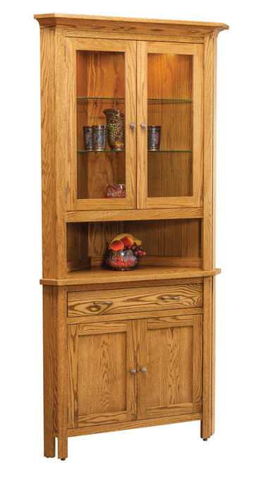 Centre Two Door Corner China Hutch