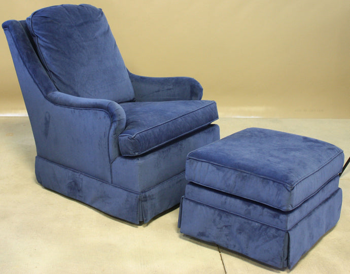 Charm Swivel Glider Chair And Glider Ottoman - Showroom Inventory