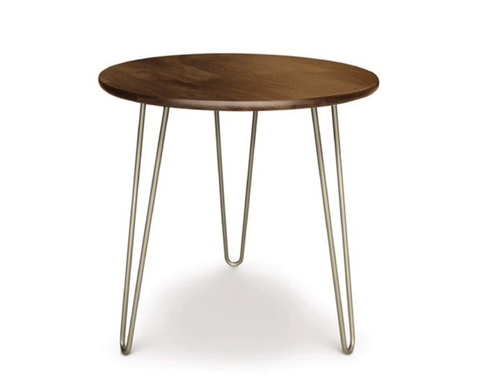 Copeland Essentials Round End Table with Metal Legs