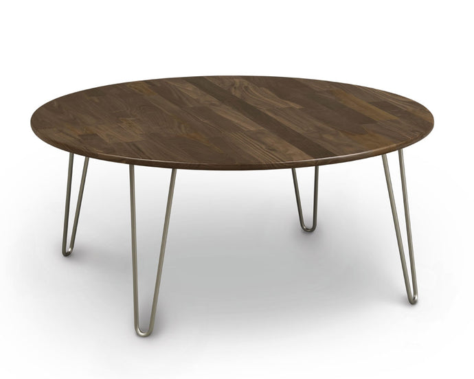 Copeland Essentials Round Coffee Table with Metal Legs