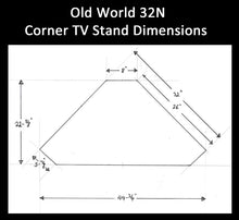Load image into Gallery viewer, Old World #32N Corner TV Stand