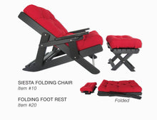 Load image into Gallery viewer, Poly Siesta Folding Chair and Ottoman with Adjustable Tilt Back- showroom inventory