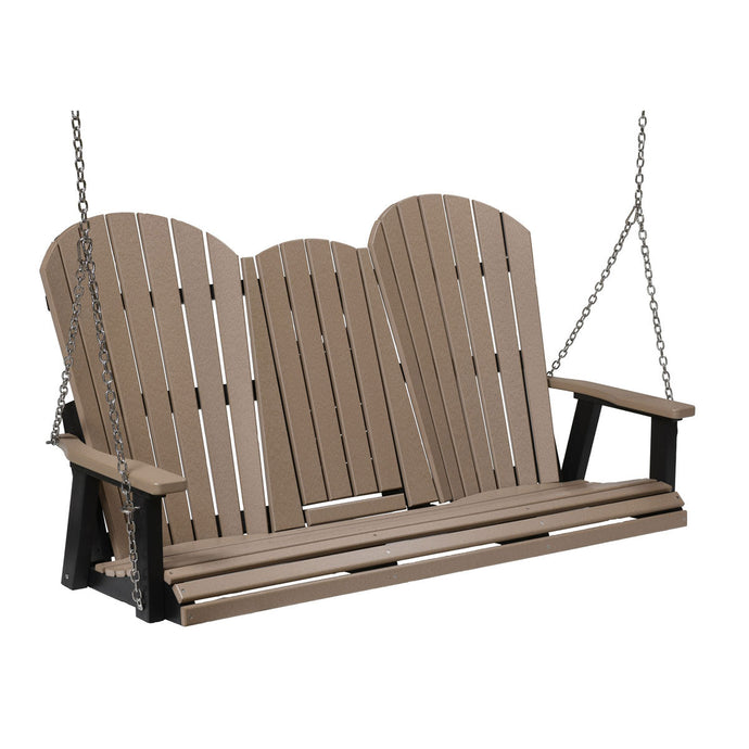 Berlin Gardens Comfo-Back Three Seat Swing with Console and  Stainless Steel Chains