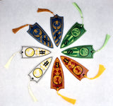 Hogwarts House Crest book mark set FOUR designs 2ITH 5x7 machine embroidery designs