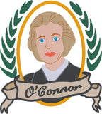 Supreme Court Justice O'Connor 5x7 machine embroidery design