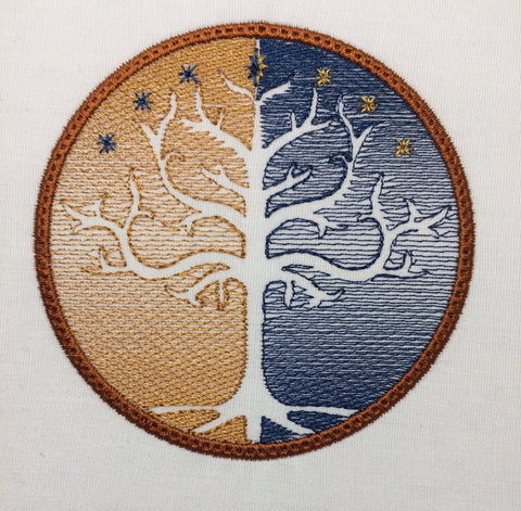 King Of Jewelry Tree of Gondor machine embroidery design 4x4