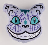 Alice in Wonderland Cheshire Cat We're All Mad Here Stuffie 4 SIZES ITH machine embroidery design