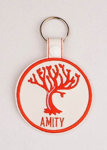 Divergent Amity snap tab key fob ITH 4x4 machine embroidery design