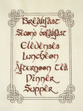 Hungry Halfling schedule 7x12 machine embroidery design