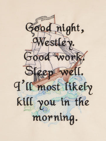 Royal Fiance Sleep Well Westley 5x7 machine embroidery design