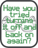 Have you tried turning it off and back on again? ITH patch 4x4 machine embroidery design