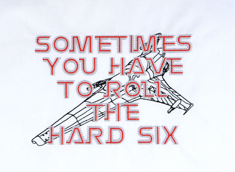 Battle Star Sometimes you have to roll the hard six Viper Mark VI 5x7 machine embroidery design