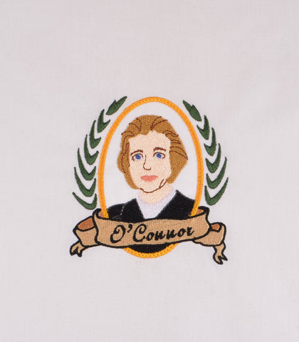 Supreme Court Justice O'Connor 4x4 machine embroidery desin