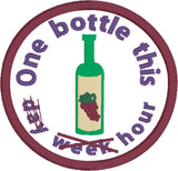 Adult Merit Badge One Bottle this hour Badge/Patch/Appliqué embroidery pattern
