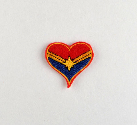 Mrs. Marvel heart feltie 4 ITH machine embroidery design