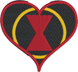 Widow Heart machine embroidery design 4x4 and 2.5 x 2.5