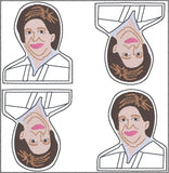 Associate Justice Elena Kagan ITH feltie 4 to the hoop machine embroidery design 4x4
