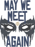 The 100 May We Meet Again 5x7 machine embroidery design