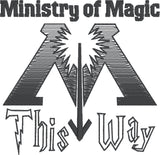 Ministry of Magic this way Toilet Paper roll 4x4 machine embroidery design