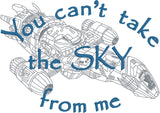 Can't take the sky from me 5x7 machine embroidery design