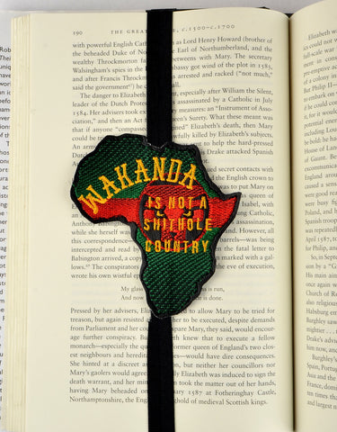 Wakanda is not a shithole planner band book mark ITH 4x4 machine embroidery design
