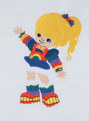 80S Color Girl 5x7 machine embroidery design