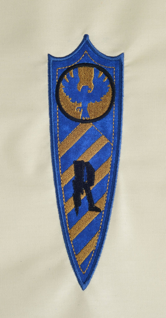Ravenclaw House Pennant Banner Appliqu 5x7 Machine Embroidery