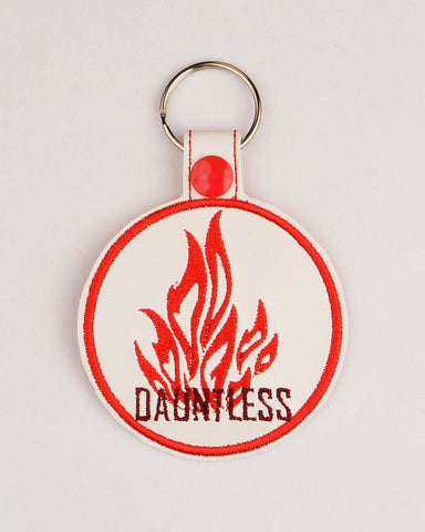 Different Fearlessness snap tab key fob ITH 4x4 machine embroidery design