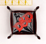 Dungeons & Dragons portable dice tray FIVE SIZES ITH machine embroidery design
