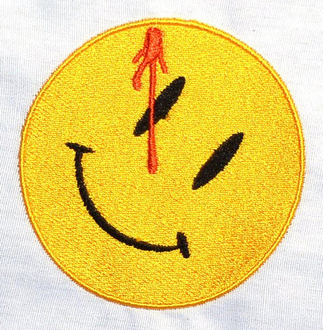 Comedian's badge 4x4 machine embroidery design