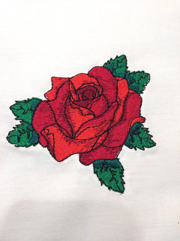 Tattoo Rose Machine Embroidery Design 4x4