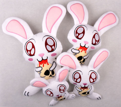Killer Bunny stuffie FOUR SIZES ITH machine embroidery design