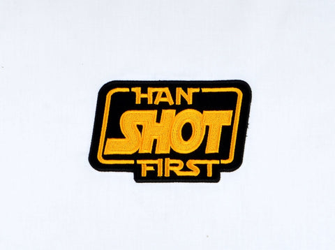 Han shot first patch / applique 5x7 horizontal machine embroidery design