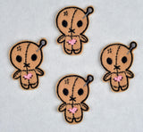 Cute voodoo doll ITH feltie 4 to the hoop machine embroidery design 4x4