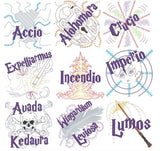 Spell, Curse, Hex & Charm machine embroidery pack 4x4