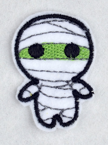 Cute mummy ITH feltie 4 to the hoop machine embroidery design 4x4