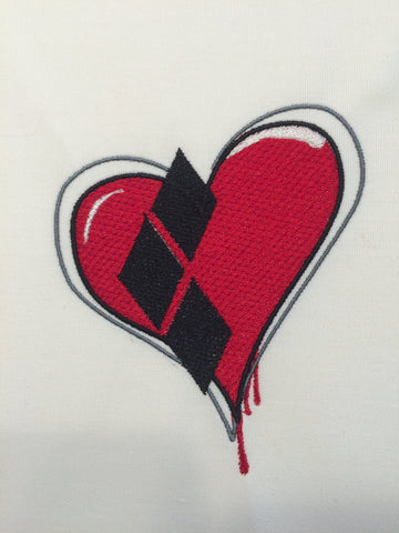 Harley Heart Machine Embroidery Design 4x4