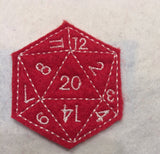 D20 ITH feltie 4 to the hoop machine embroidery design 4x4