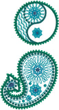 Paisley Semicolon 2 machine embroidery design 4x4