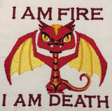 Tiny Smaug machine embroidery design 4x4