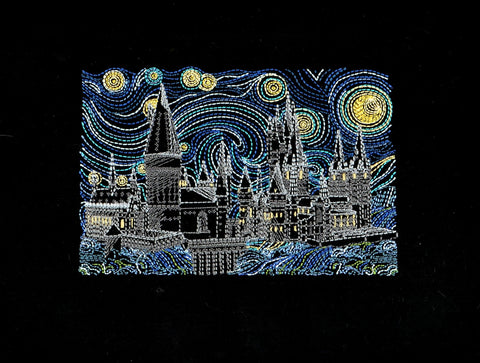 Starry Castle 5x7 machine embroidery design