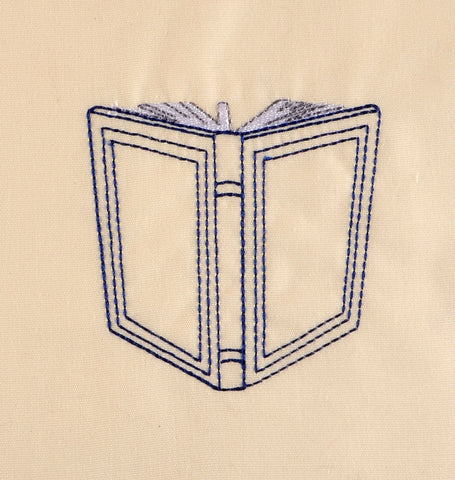 Blank Book 4x4 machine embroidery design