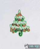 A Very Merry Kissmyass 5x7 machine embroidery design