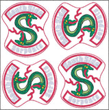 Lakeville Southie Snakes feltie 4ITH 4x4 machine embroidery design